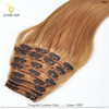 Alibaba Express Brand Name Best Quality remy clip hair extensions double weft