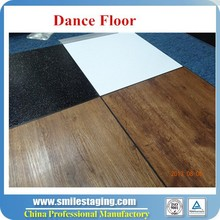 Portable dance floor easy assembled/ Black/White/Wood looking