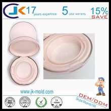 Custom bright-color!!!two color plastic round cosmetic jars/case/cover