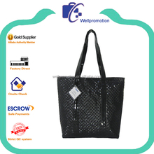 Wellpromotion promotinal leather handbag with long straps