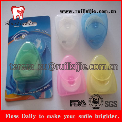 20meters floss thread Nylon Dental Floss Card Waxed and mint flavored