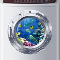 ZOOYOO refrigerator stickers commercial refrigerator sticker adhesive fish wallpaper (W026)