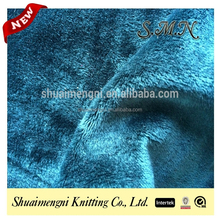 dyeing Warp knit polyester spandex velvet fabric for clothing drapery in winter