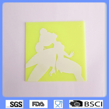 Square silicone imprint mat,silicone place mat