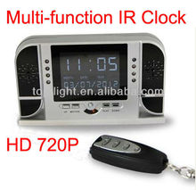Remote Multi-function IR Night Vision clock 720P Motion Detection
