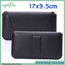 Wholesale Cheap Price Lichee Pattern Leather Belt Clip Holster Case for iPhone 6 Plus