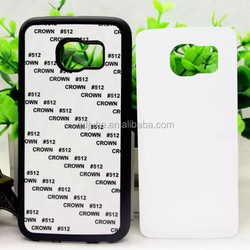 High quality TPU material rubber blank sublimation cell phone cover for Samsung S6 edge