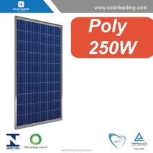 Solar panel price list for 250 watt 30V 36V with black color option.