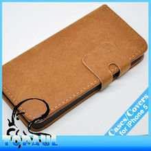 2013 popular style light brown credit card hold wallet purse pattern PU leather pouch case for apple iphone 5