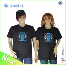 music active cheap flash tshirt china wholesale el wire tshirt sound activated tshirt