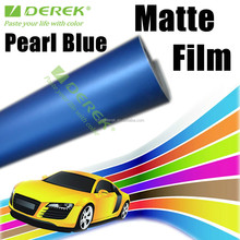 Pearl Blue Matte Car Wrapping Film,Matte Vinyl Wrap With Air Free Bubbles,Adhesive PVC Car Sticker