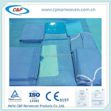 Sterile cover with water absorber fabric for knee kit