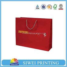 2015 cheap custom printed shopping handbag brown kraft paper shopping bag for Christmas