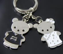 bear animal keychain, bear metal keychain, bear custom keyring