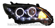 replaceable auto headlight/ Toyota corolla head lamp 2011 with halogen and HID