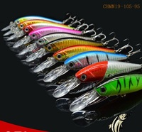 CHMN19-105-95 fishing minnow lure 105mm 9.5g 3D eyes Crank Hard Lure refecting laser fishing lures
