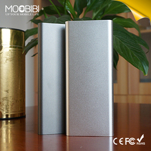 business style 5400mah power bank gray silver color