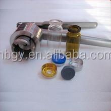 medical vials, glass bottle used cap crimper