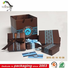 customized square bottom paper bag packaging supplier