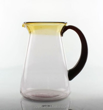Hand made glass jug,thick glassware,tableware for home bar restaurant usage