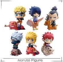 Popular hot selling anime naruto figure 6pcs