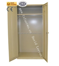 GuangDong Bedroom Furniture Iron Almirah Wardrobe Design Metal Storage Cabinet