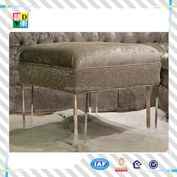Customized clear acrylic stool with lether top,New arrival high quality popular acrylic chair with sofa top from China low price