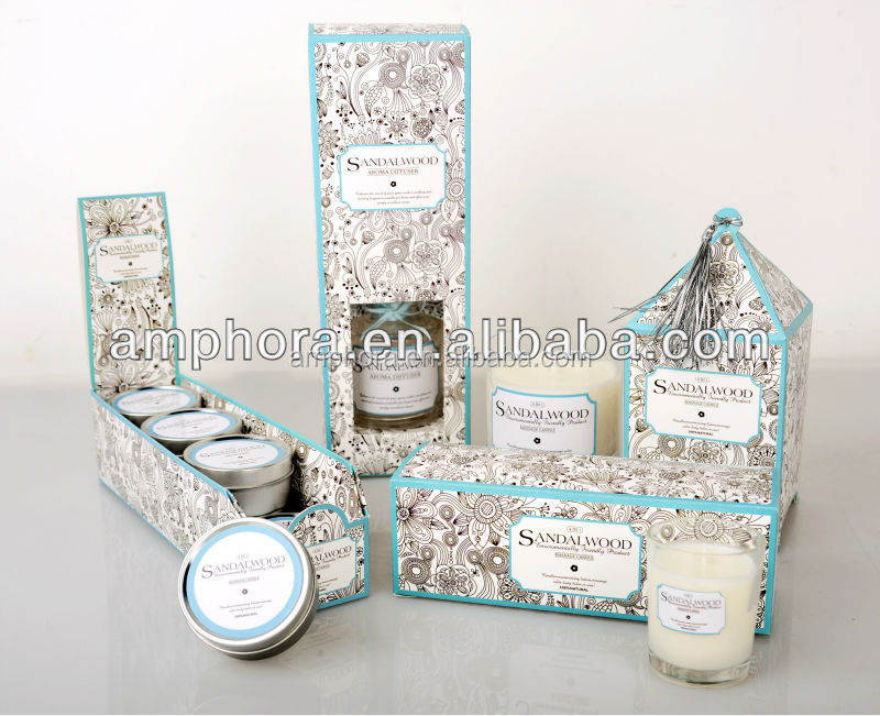 body massage candle in different glass cup