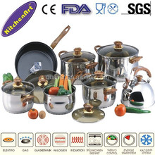 14pcs stainless steel non-stick cookware set