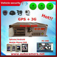 H.264 4 canales HDD / SD DVR móvil vehículo con GPS opcional, 3G, WiFi, G-sensor