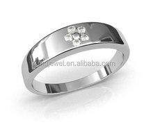 Silver Men Ring antique classical design with diamond