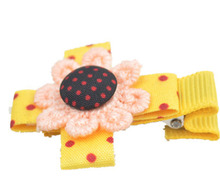 2015 wholesale flower hair claw clip fashion sun flower hair clips