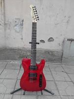 string through body 7 string electric guitar