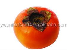 Decorative Fruit Orange Color Persimmon Artificial Fruits