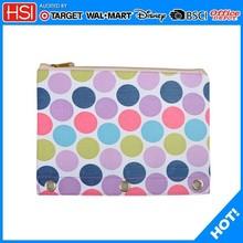 colorful dots pvc 3 ring binder pencil case plastic pencil case