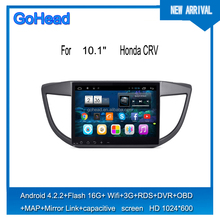 For Honda New CRV 2012-2014 10.1inch GPS MP3 3G WIFI Mirror Link Android 4.4 Capacitive Screen car Radio