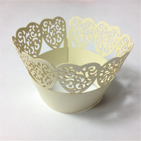 Hot selling lace laser cutting wedding decoration favor cake customized cupcake stand backing tool best price cupcake wrappers