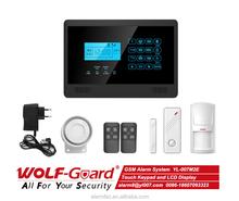 Wireless GSM intelligent Home Security Burglar Alarm and intruder home smart alarm systems --YL-007M2E