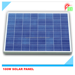 High efficiency 100w 18v solar panel