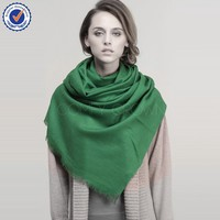 Plain Colour Twill Mongolia High Quality 100% Pure Wool Scarf SWW716 mongolian lamb scarf women scarf wholesale