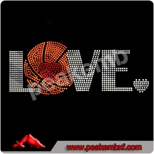 tshirt transfer rhinestone cupcake iron ons Basketball Love