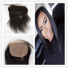 100 percent human for silk base closure cambodian hair lace closures