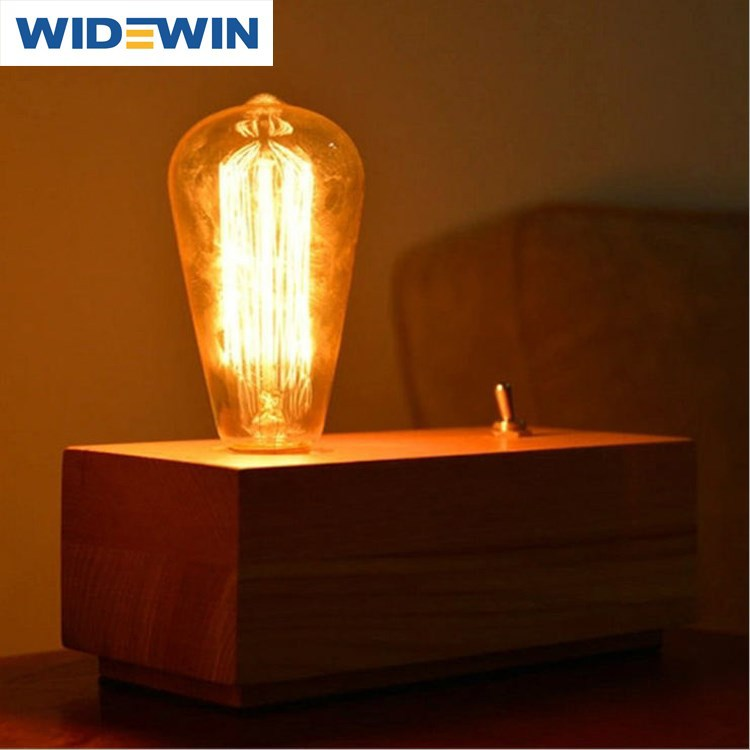 Vintage Bedside Table Lamp Wood Base Novelty Desk Lamp E27 110v 220v Table Light For Living Room ...