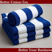 Hotel Blue and White Stripe Pool Towel