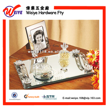 Decorative Mirror Tray With Jewel