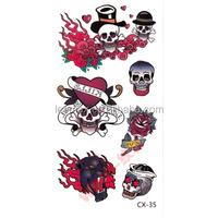 LM1044 Halloween stickers tattoo kids tattoo dragon tattoo sticker