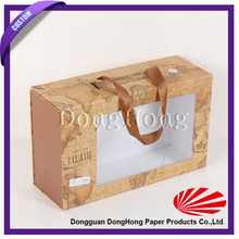 Custom hard cardboard pet carriers wholesale with clear window