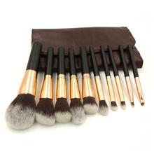 10Pcs Wholesale Cosmetic Makeup Brushes Set Make Up Kabuki Tool Eyebrow Brush