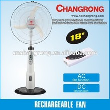 110-220V rechargeable fan 18'' rechargeable stand fan Made in China