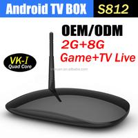 Support H.265 Amlogic S812 Quad Core Android 4.4.2 Google TV box 2G +8GB 4Kx2K